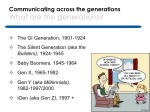 Communicating across the generations